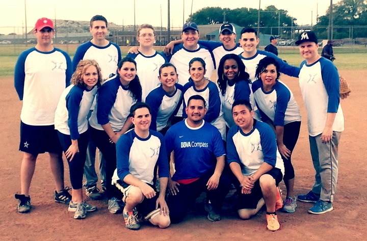 Bbva Compass Softball Team Spring 2014 T-Shirt Photo