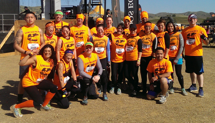 Tough Mudder Team Limusaurus T-Shirt Photo