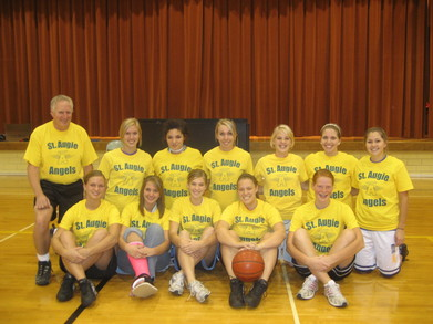 St. Augie Angels Cyo Basketball Team T-Shirt Photo