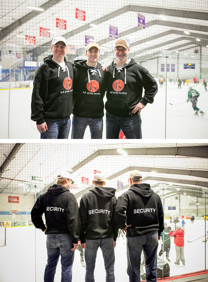 Full Stride Hockey Security T-Shirt Photo