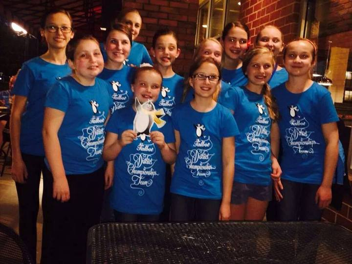 1st Place District Championship Synchro Silver Skating Team T-Shirt Photo