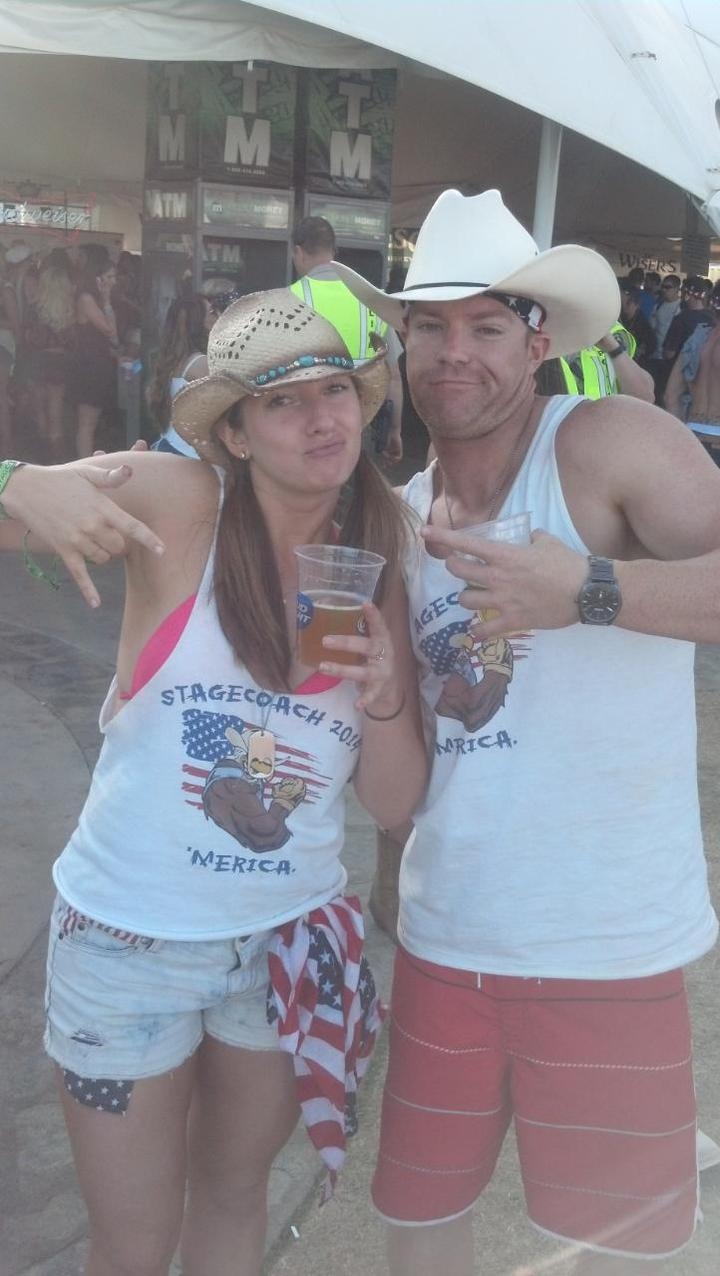 Awesome Tanke Tops At Stagecoach! T-Shirt Photo
