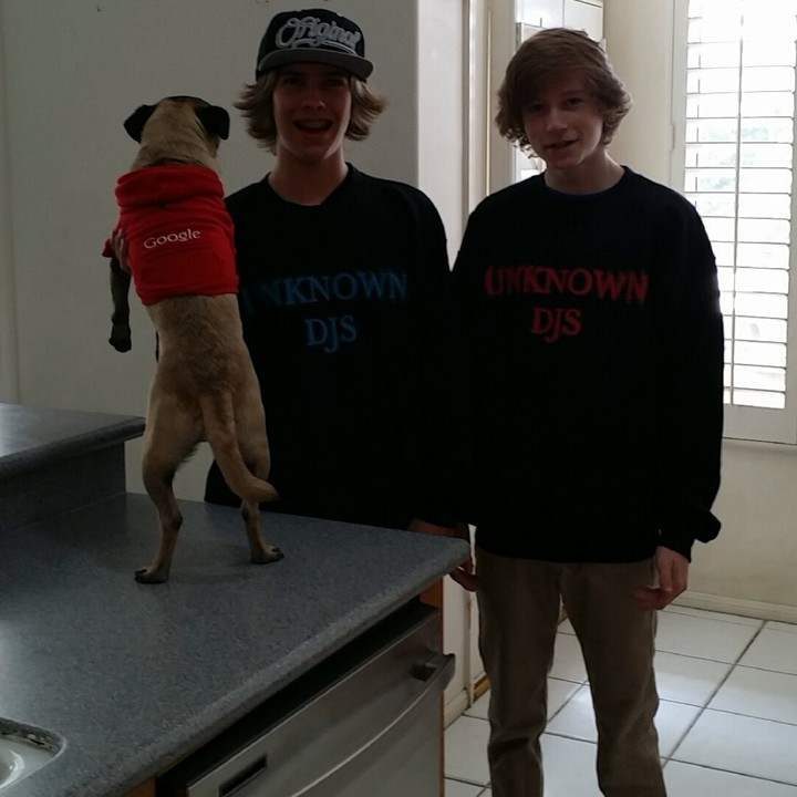 Two Djs And A Pug T-Shirt Photo