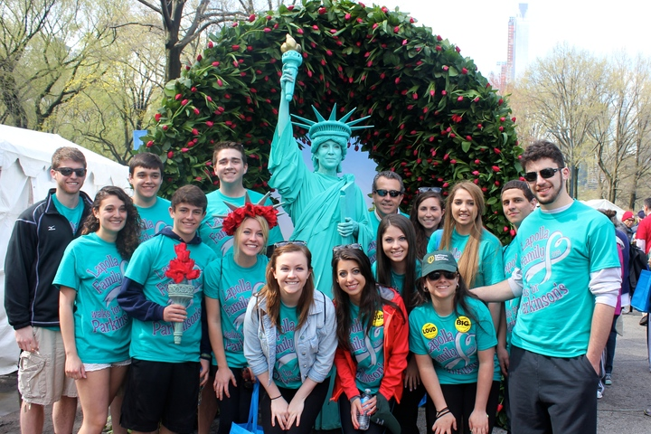 Lapolla Family Walks For Parkinson's In Nyc T-Shirt Photo