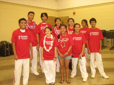 Kalani Marching Band Trumpet Section 2007 T-Shirt Photo