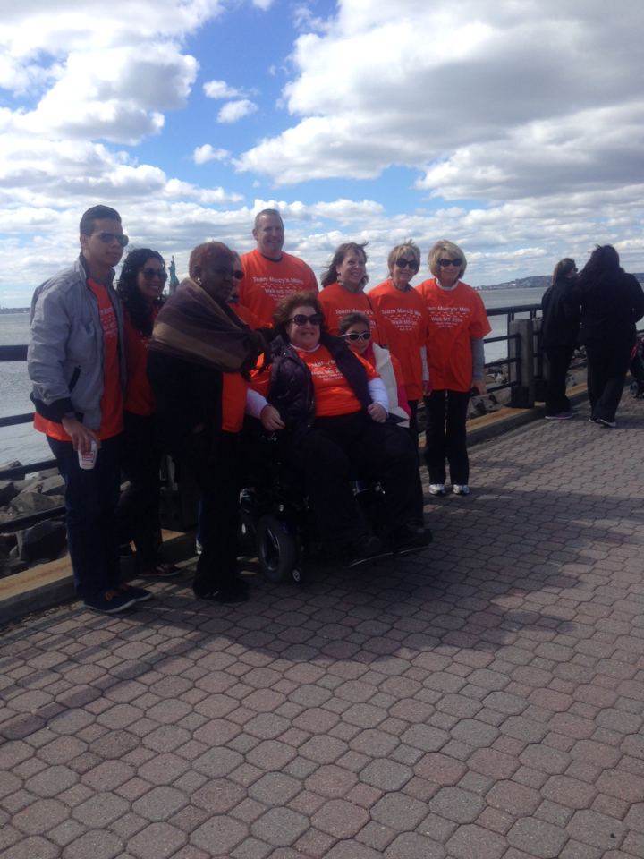 Team Marcy's Mom At Ms Walk 2014 At Liberty State Park, Nj T-Shirt Photo