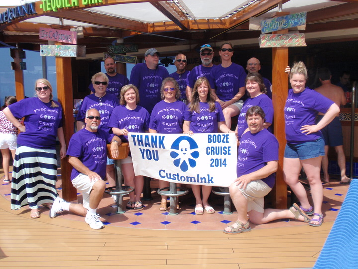 Wisconsin Booze Cruise   April 2014 On The Carnival Breeze T-Shirt Photo