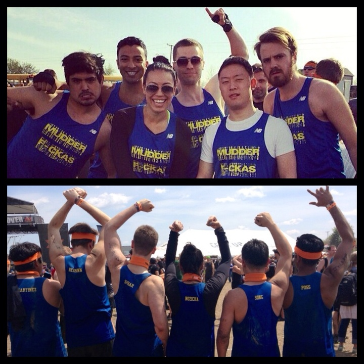 Tough Mudder: Before And After T-Shirt Photo