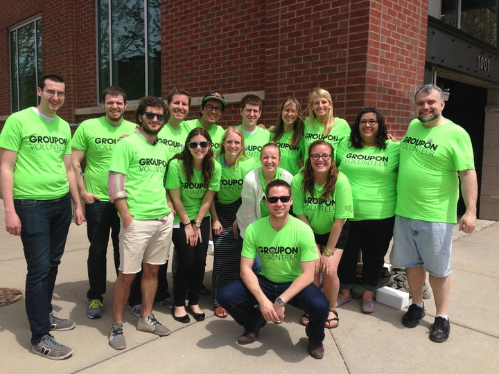 Groupon Employee Volunteers T-Shirt Photo