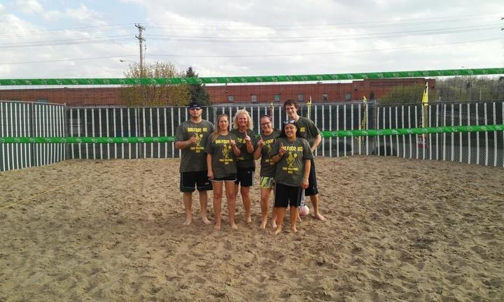 Fun At Sand Volleyball T-Shirt Photo