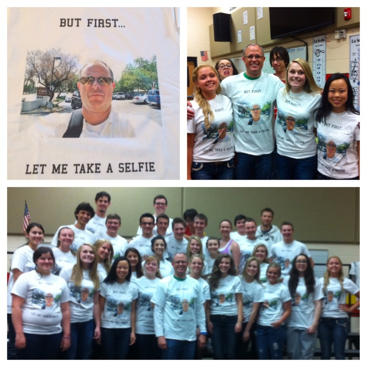 "Choir Director ""Selfie"" Shirts T-Shirt Photo"