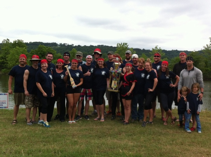 Won Fun Crew 2014 River Cities Dragon Boat Champions! T-Shirt Photo