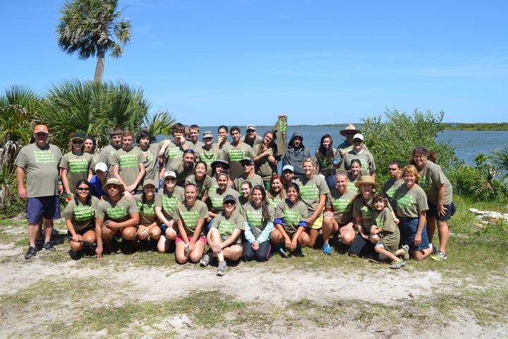 Volunteers Save Indian River Lagoon Shoreline T-Shirt Photo