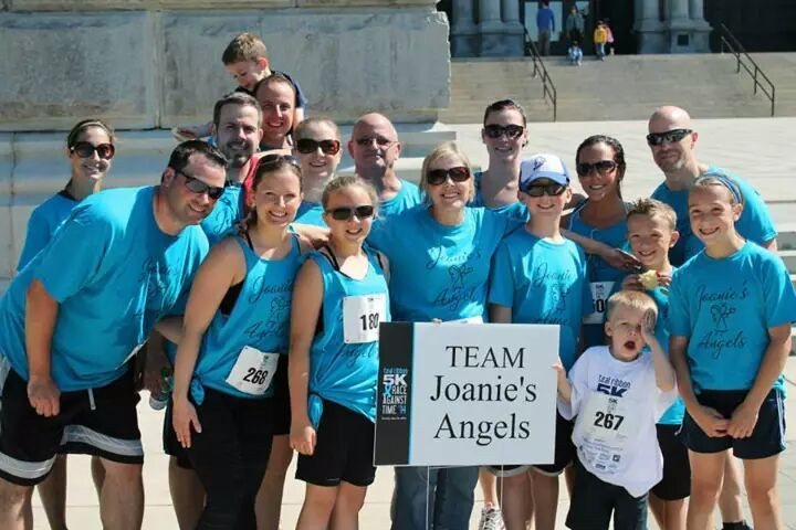 Teal Ribbon 5k In Memory Of Joan Staples. T-Shirt Photo