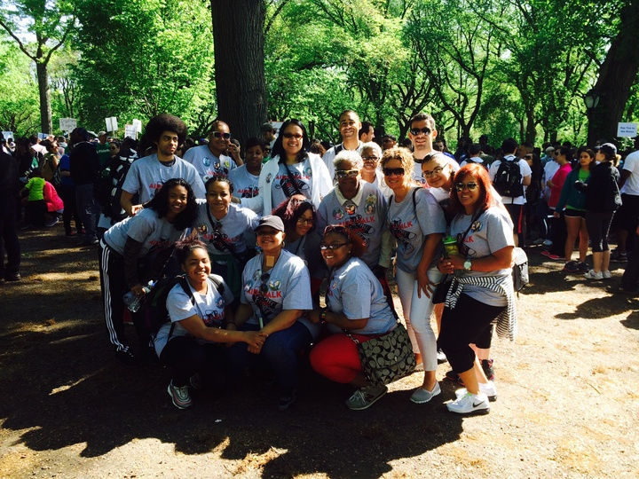 Ny Ct Connection   Aids Walk Nyc 2014 T-Shirt Photo
