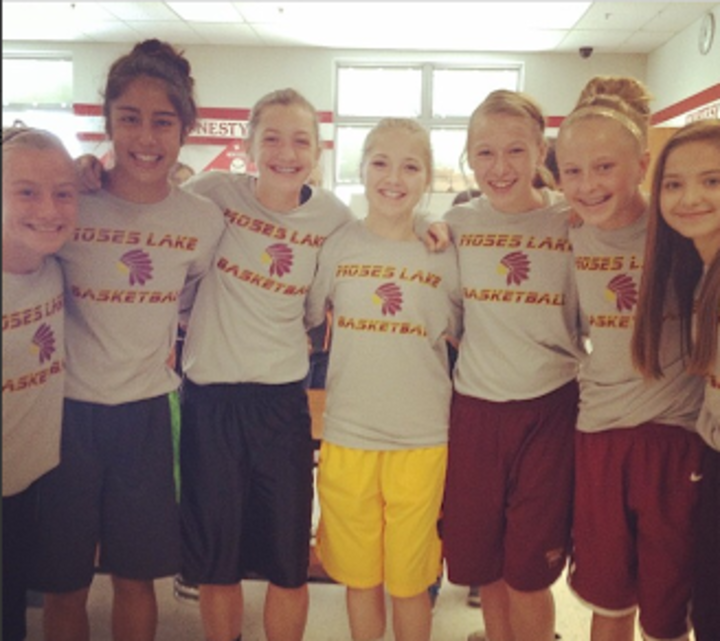 7th Grade Moses Lake Girls Basketball T-Shirt Photo