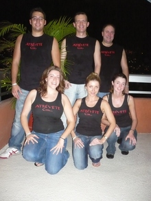 Dynamix Salsa Dance Team In Acapulco, Mexico! T-Shirt Photo