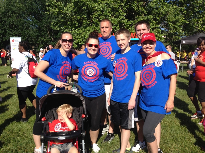 Avenging Heart Disease At The Aha Heart Walk T-Shirt Photo