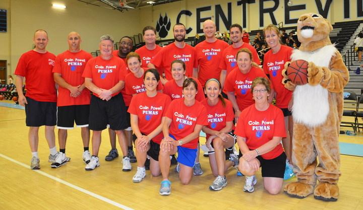 Colin Powell Elementary Staff Basketball Team T-Shirt Photo