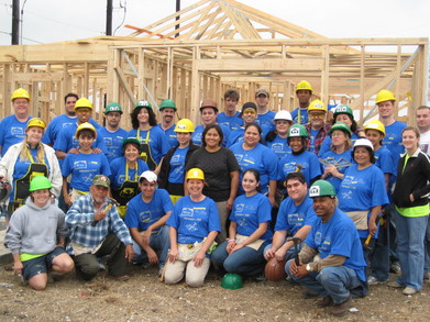 Team San Antonio West Business Svcs At Habitat For Humanity T-Shirt Photo