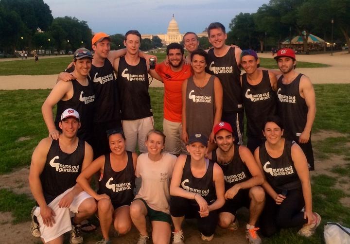 Suns Out Guns Out Team Photo T-Shirt Photo