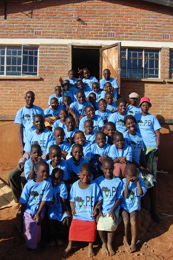 Hope Village Malawi Africa   Helping Orphans Prospering Everyone T-Shirt Photo