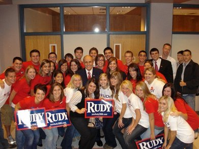 Students For Rudy Giuliani T-Shirt Photo