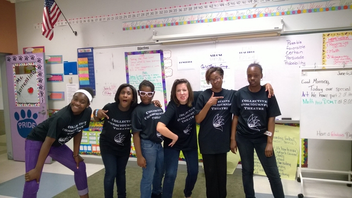 Girl's Theater Group Goofing Off! T-Shirt Photo