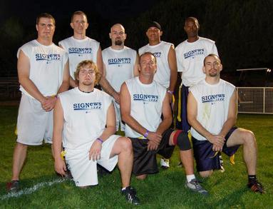 Sig News Flag Football Team T-Shirt Photo