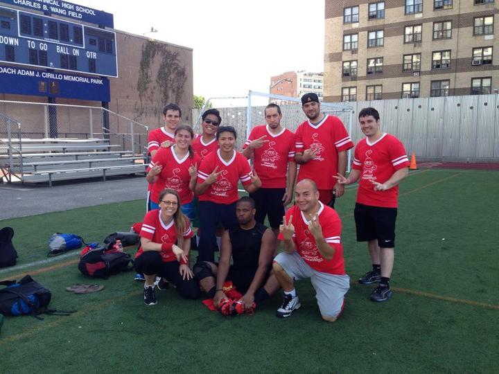 Brooklyn Spidermonkeys Football Team T-Shirt Photo