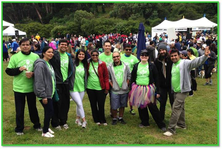 Act Now Walkers At The 2014 Bay Area Nami Walk T-Shirt Photo