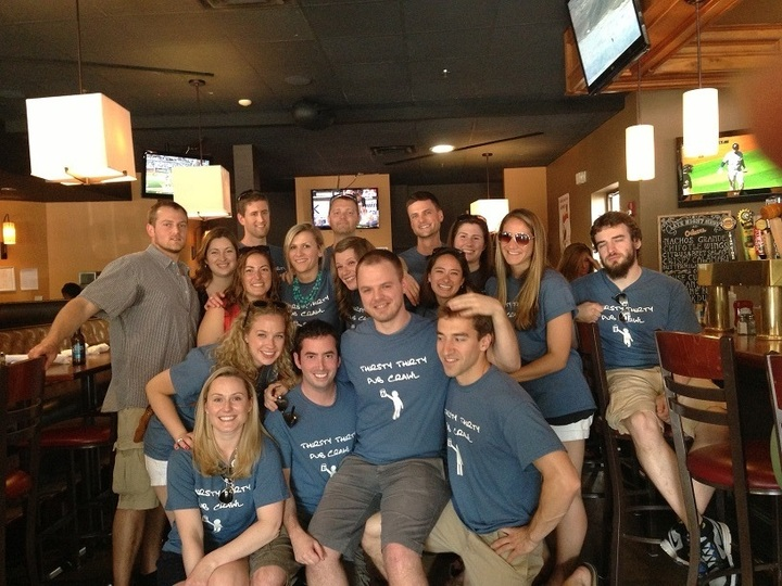 Thirsty Thirty Pub Crawl T-Shirt Photo