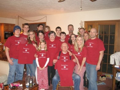 Nygaard Family Christmas 2007 T-Shirt Photo
