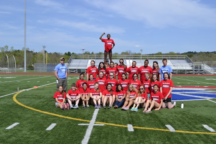 Girls Varsity Track Team Picture T-Shirt Photo