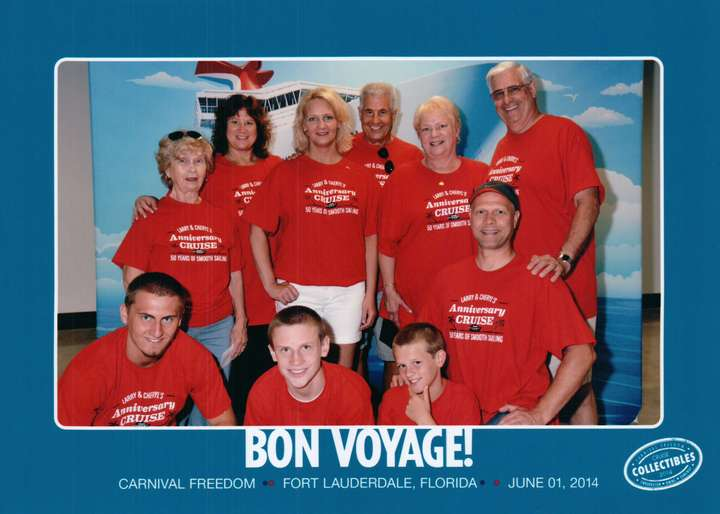 Larry & Cheryls 50th Anniversary Cruise T-Shirt Photo