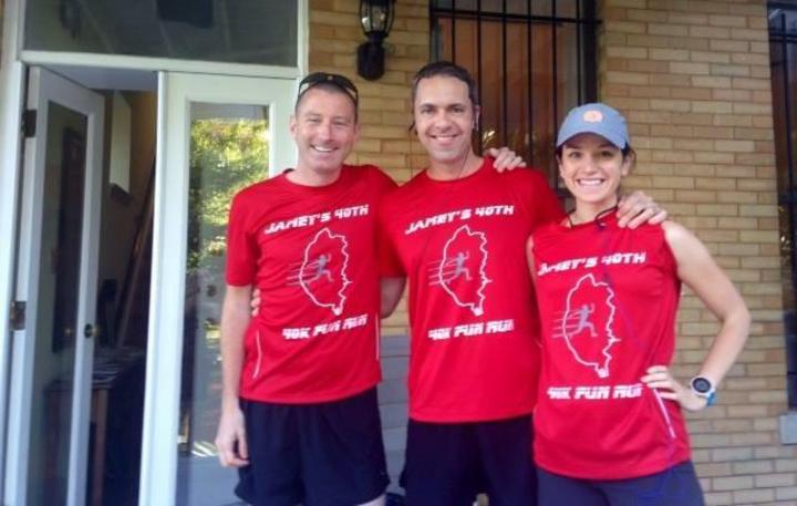 Three Runners Before A 40 K! T-Shirt Photo