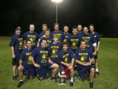Oak Island Parks & Rec Flag Football Champions T-Shirt Photo