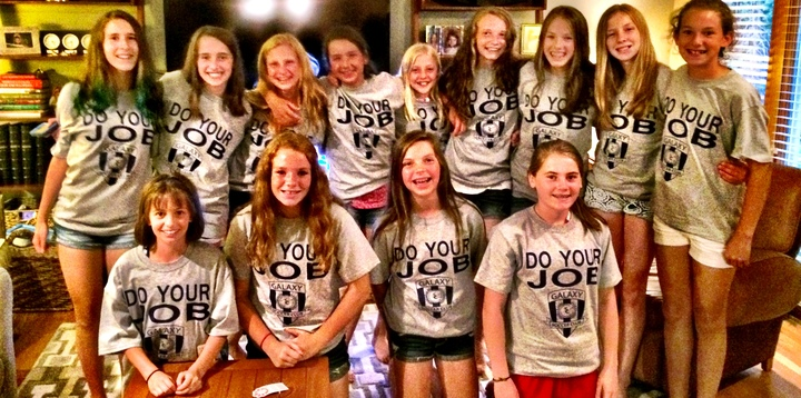 Galaxy Soccer Naperville U12 Girls T-Shirt Photo