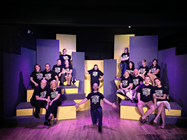 Cast & Crew Of Company At Reno's Good Luck Macbeth T-Shirt Photo