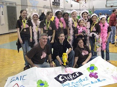 Damsels Win State Robotics Tourney T-Shirt Photo