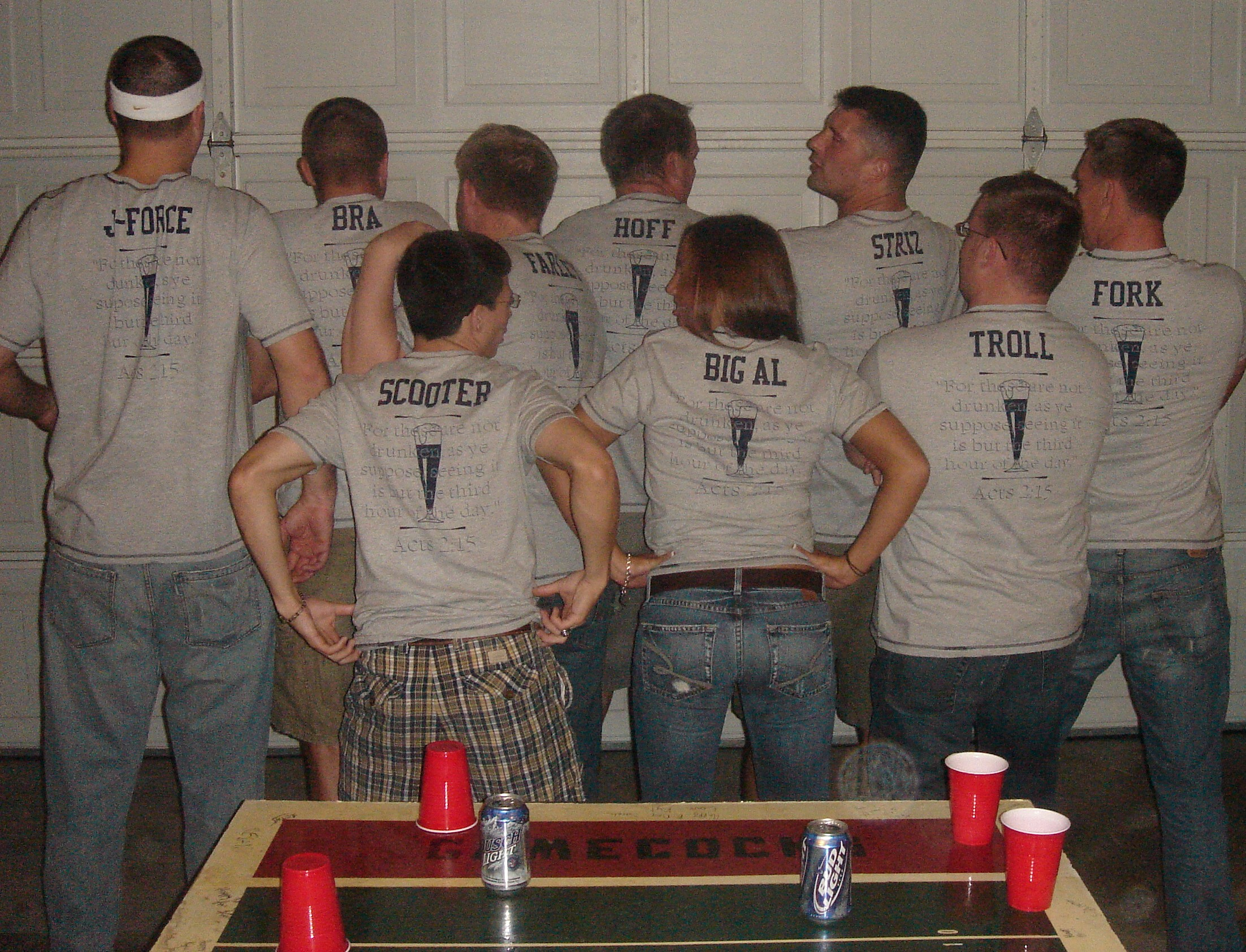 Shirt design games - Drinking Team Debut T Shirt Photo