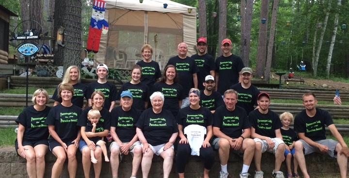 Our 'passenger Lake Paradise Resort' Family T-Shirt Photo