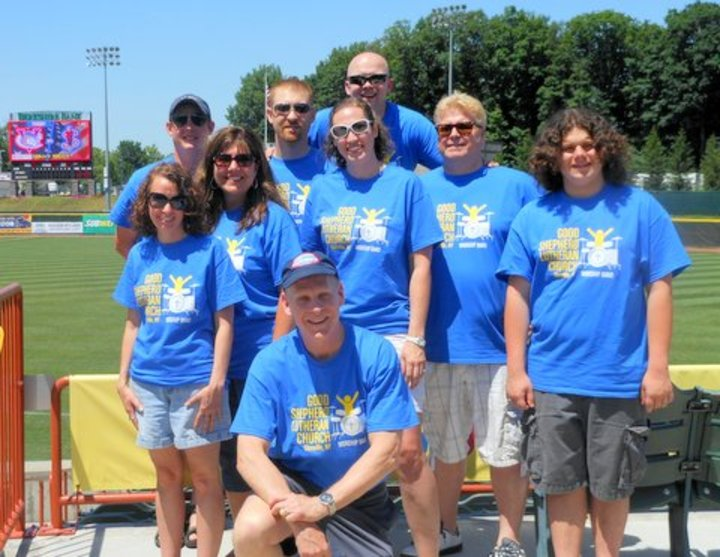 Good Shepherd Praise Band At Valley Cats Baseball Game T-Shirt Photo