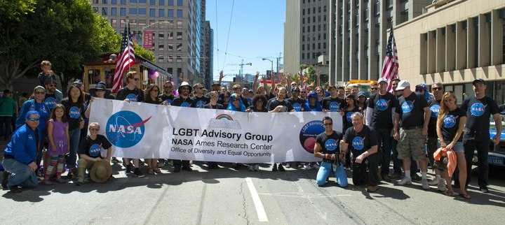 Nasa's First Lgbt Pride Parade Event. T-Shirt Photo
