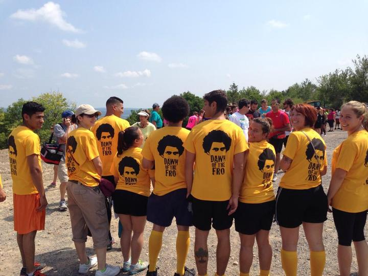 Team Go! Go! Go! At Spartan Sprint 2014 Pa T-Shirt Photo