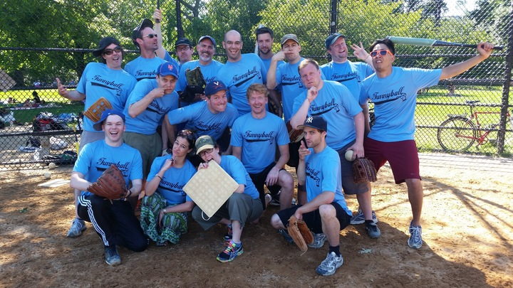 Nyc Comedians Play Softball Too T-Shirt Photo