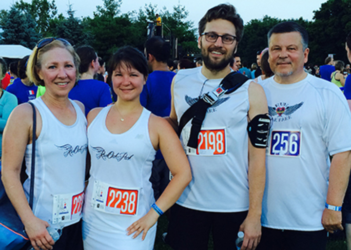 Run Oak Park At Bastille Day 8 K In Chicago T-Shirt Photo
