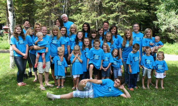 Barney Family Reunion T-Shirt Photo