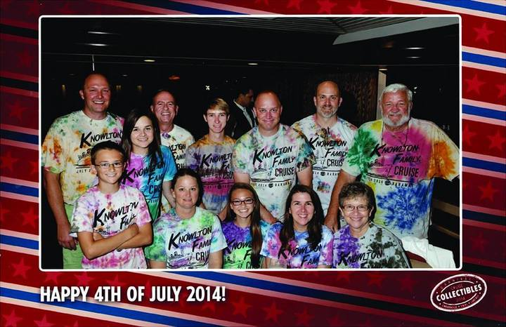 Knowlton Family Cruise Tie Dyed Custom Ink Shirts T-Shirt Photo
