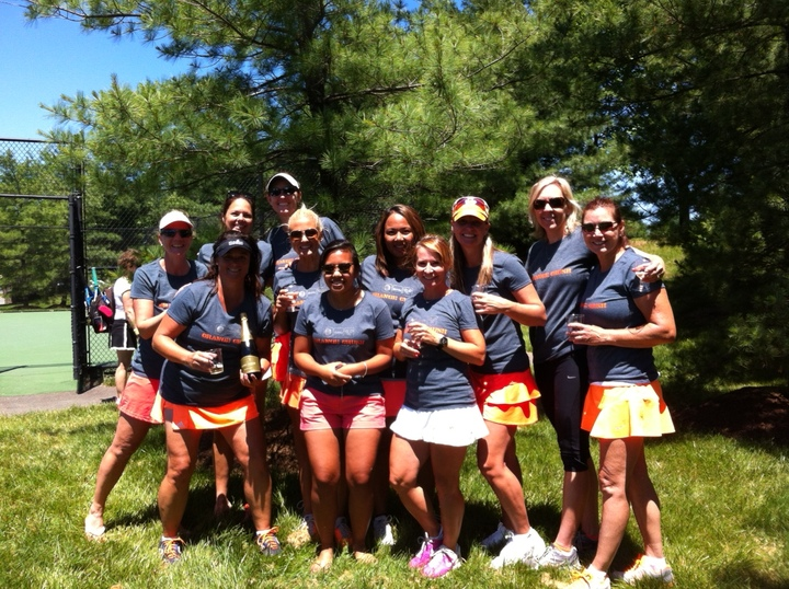 Orange Crush Tennis Team! T-Shirt Photo